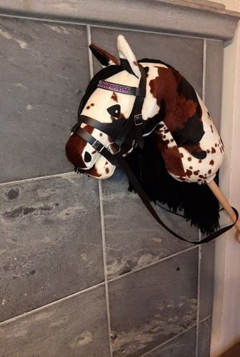 Hobbyhorse, brown multicolored, velboa